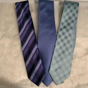 BCBG Attitude men's ties. Like new. Lot of 3
